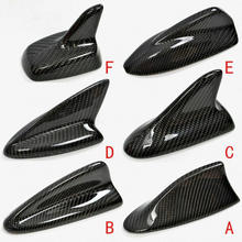 Auto Carbon fiber Shark Fin Aerial Roof Style Modified Car Aerials Styling Antenna