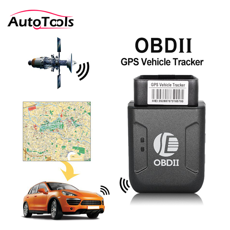Mini OBD2 GPS tracker GPRS Real Time Tracker Car Tracking System With Geofence protect Vibration Phone SMS alarm alert tk206 tk206 obd2 car gps tracker real time tracker car vehicle with tracking system anti theft car kit lbs for universal car
