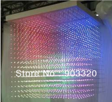 100*100*115CM SMD1616 3 in 1 16*16*16=4096 Voxel SD Card Ceiling 3D LED Cube Light,LED Display for Disco Party,Exhibition,Bar