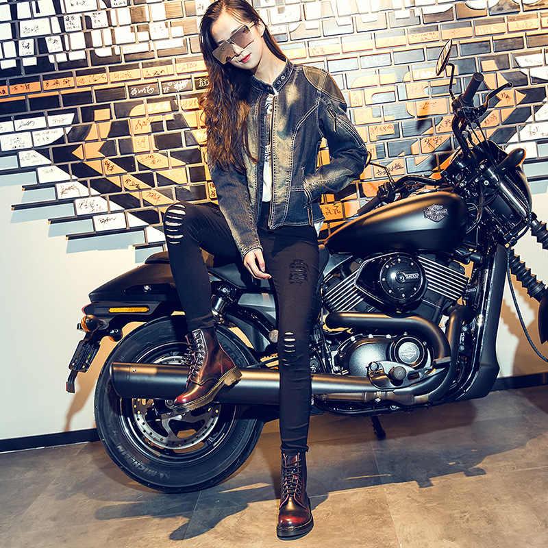 2019 hakiki deri kadın botları askeri ayakkabı Botas Feminina kadın motosiklet ayak bileği moda çizmeler Botas Mujer