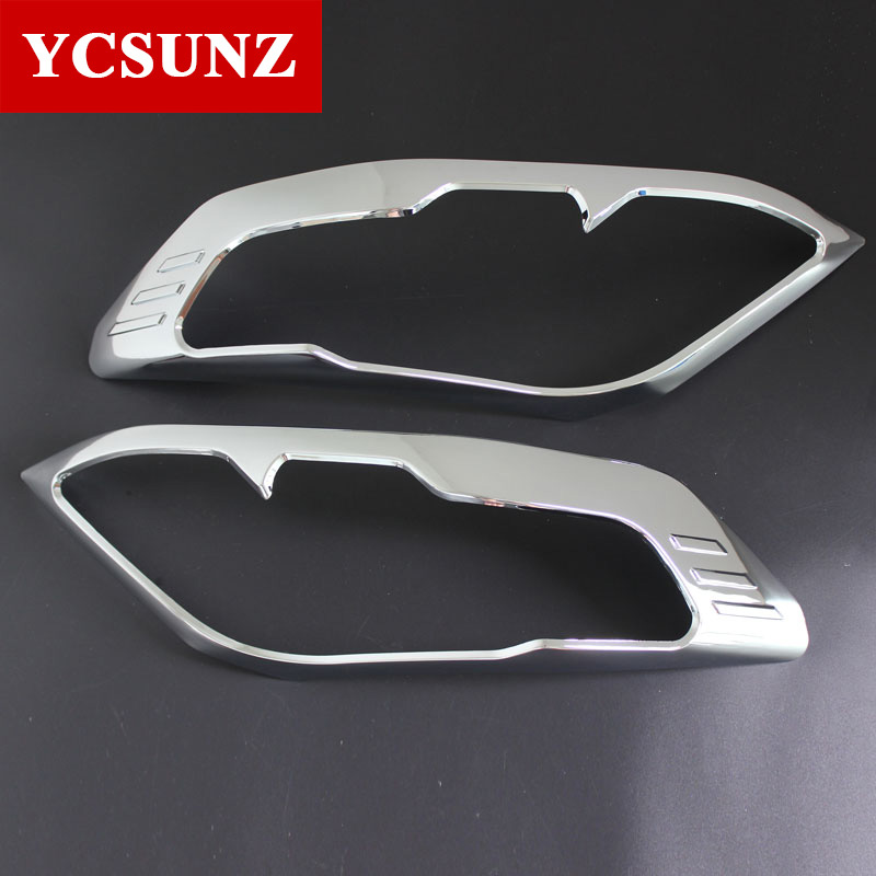 ABS Chrome Design For Toyota Fortuner Accessories Headlight Cover Trim For Toyoyta Fortuner Hilux SW4 2012-2014 Ycsunz 2016 toyota hilux revo window accessories abs chrome window gate trim for toyota hilux revo 2015 2016 chrome decoretive trim