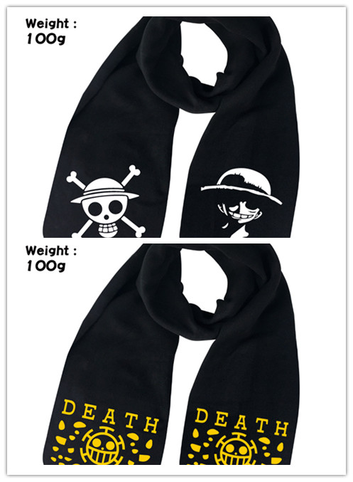 Apparel Accessories Anime One Piece Cosplay Monkey D Luffy Scarf Adult Scarves Wraps Cotton Winter Warm Long Scarf