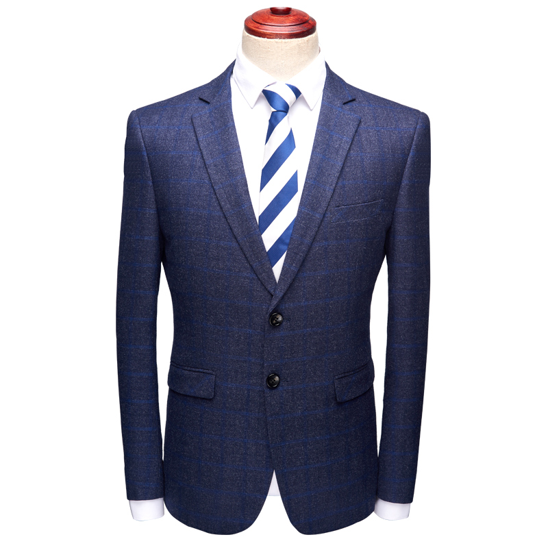 2018 Neue Stil Mäntel Herrenmode Klassische Hohe Qualität Plaid Blazer Männer Jacke, Männer Single Button Casual Business-blazer
