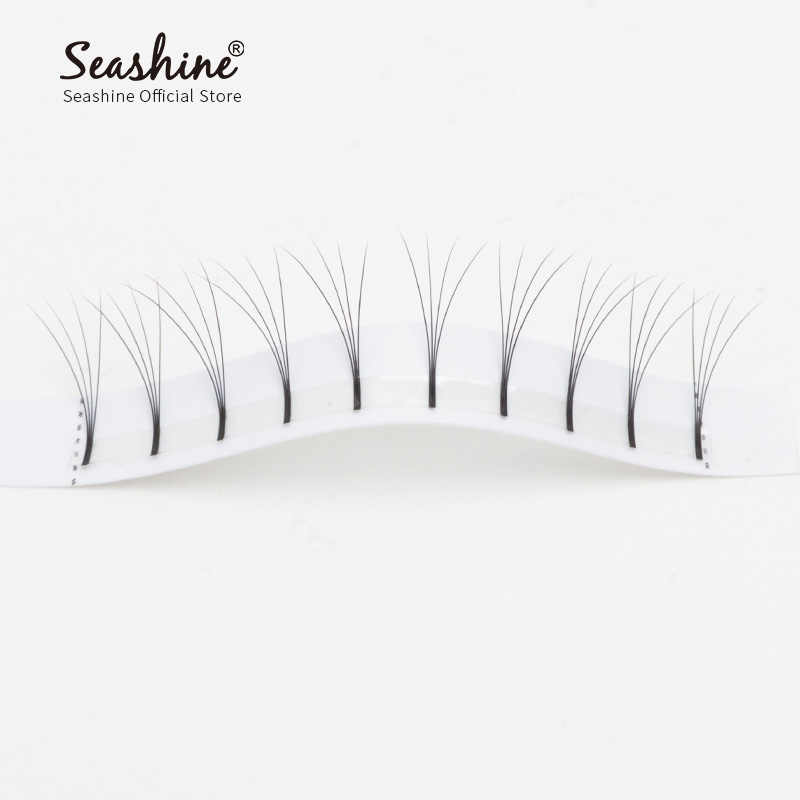 4959171e073 ... Seashine Long Stem 4D Premade Fans Handmade Volume Mink Lashes Russian  Volume Individual Eyelashes Extension Free ...
