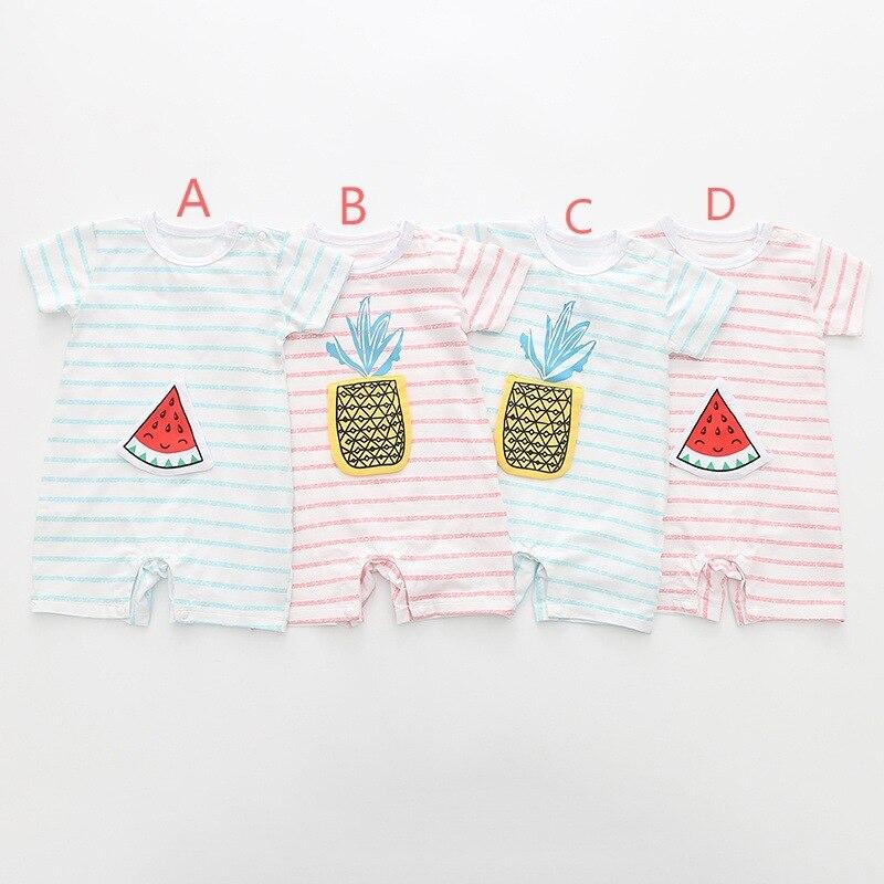 Детский комбинезон летняя одежда Новинка в полоску из ребенок соединяется с короткими ру ...