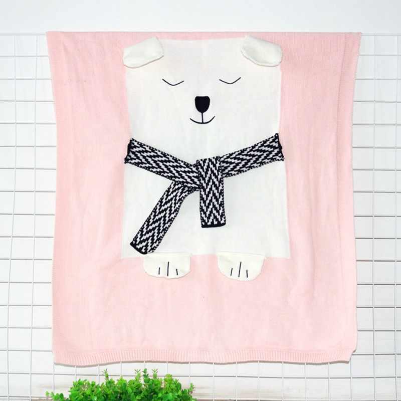 MOTOHOOD דוב חמוד יילוד שמיכות שמיכות תינוק כותנה אופנה סרוגה אביזרי צילום חדר קישוט תינוק מוסלין החתלה גלישה