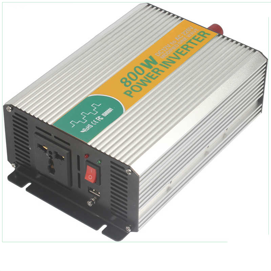 M800-122G high quaIity modified sine wave 800w power iverter 220v 12 v iverter,singIe phase iverter for home use p800 481 c pure sine wave 800w soiar iverter off grid ied dispiay iverter dc48v to 110vac with charge and ups