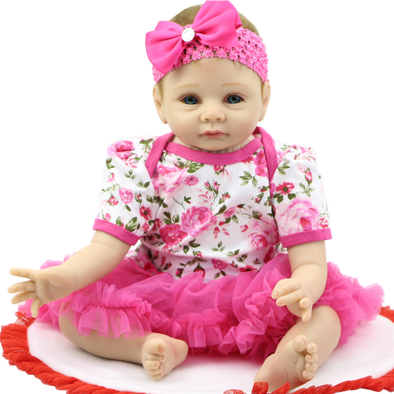 Baby Alive Toys : Inch silicone baby doll toy for girls simulation