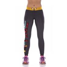 NEW YT2083 Fashion Sexy Girl Women Adventure Time Jake 3D Prints High Waist Workout Fitness Leggings Pants Plus Size