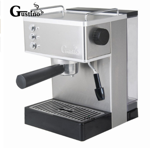 Gustino 19Bar 110V~220V Semi Automatic Coffee Maker Espresso Machine with Froth Milk Stainless Steel 304 HousingGustino 19Bar 110V~220V Semi Automatic Coffee Maker Espresso Machine with Froth Milk Stainless Steel 304 Housing