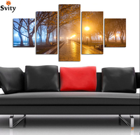 2017 new 5 panels HD landscape Canvas Print Home decoration Living Room Bedroom Wall pictures Art Scenery painting Unframed A11