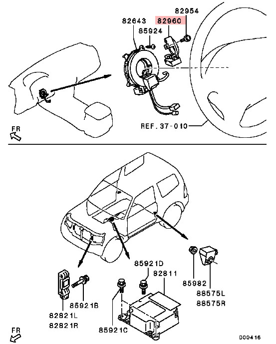 Theftproof Control Unit For Mitsubishi Pajeor Lancer Grandis Montero