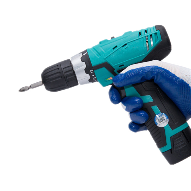 Professional Mini <font><b>16V</b></font> DC Double Variable Speed Cordless Electric Dremel Screwdriver Household Electric Drill Impact Power Tools image