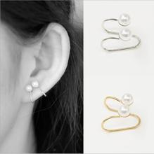 no pierced earcuff simulated pearl clip on earrings ear cuffs for women orecchini donna cuff
