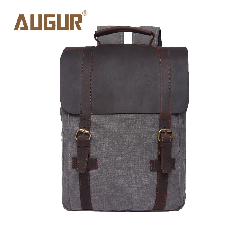 ФОТО AUGUR Brand New Fashion Mens Designer Backpack Laptop Backpack Canvas Backpacks For Teenage Girls School Bags HT100583