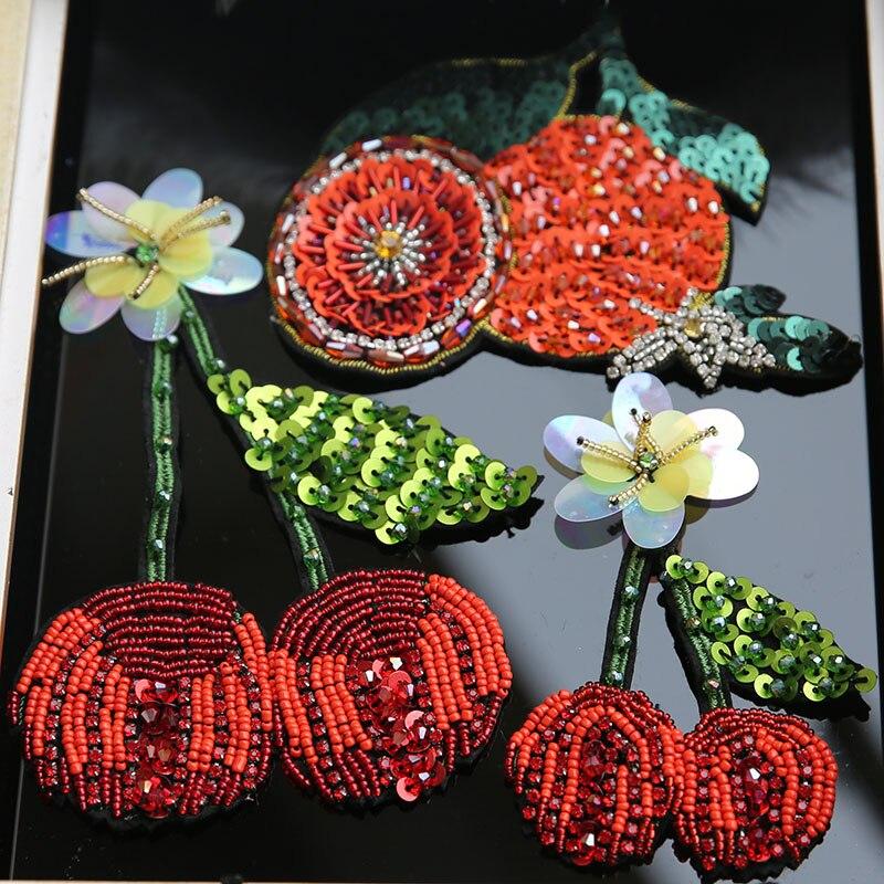3D اليدوية الكرز البرتقال حجر الراين - الفنون والحرف والخياطة