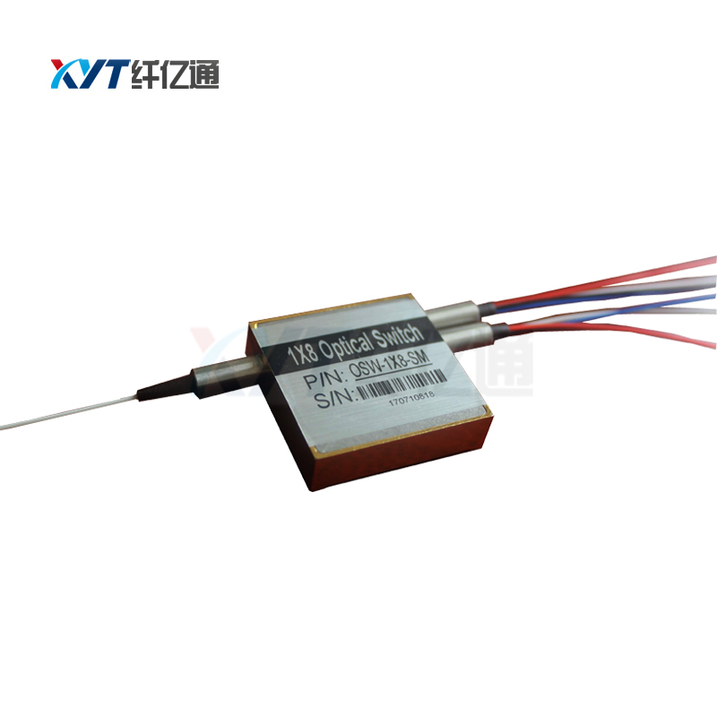 9/125um single mode fiber Single Mode FC UPC Connector 1260~1650nm 1x8 Micro Mechanical Fiber Optic Switch