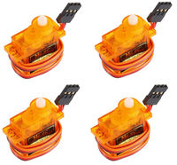 4 X SG9 Mini Gear Micro 9g Servo For RC Helicopter Airplane Car Boat Trex 45