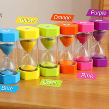15/20/30/60 Minutes Sandglass Plastic Timing Home Decoration Hourglass Colorful Sand Watch Hexagon Yoga
