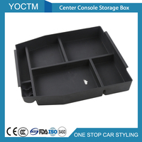 1pcs Center Console Storage Box Black Space Storage For Ford F150 2015 2016 2017 Accessories Interior For Ford F 150 Car Styling