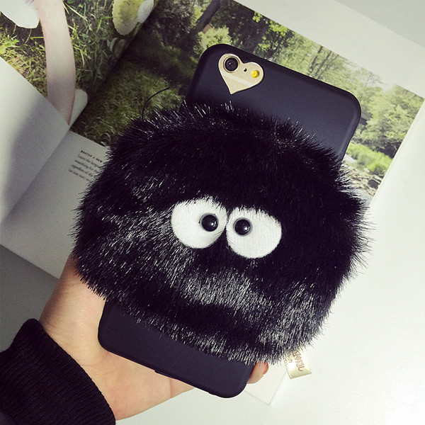 Totoro Black Briquettes Case Cover for iPhone