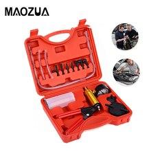 Kit de bomba de vacío 2 en 1, herramienta de coche, Purgador de freno manual automático, probador de vacío, Kits de manómetro de prueba de vacío