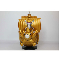 20CM One Piece Golden Sailing Boat Thousand Sunny Figurine Dolls Toys PVC Action Figure Collection Model Toy H606