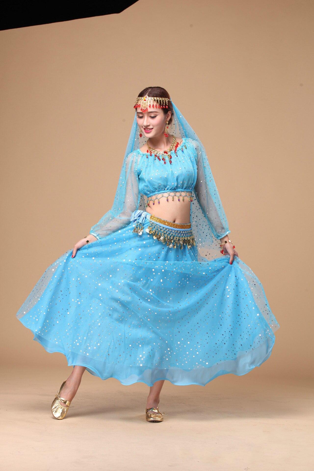 Ensembles de costumes de danse du ventre pour femmes pour la compétition 8 pièces/ensemble robe de danse du ventre dame Costume de danse indienne danseur du ventre porter des vêtements