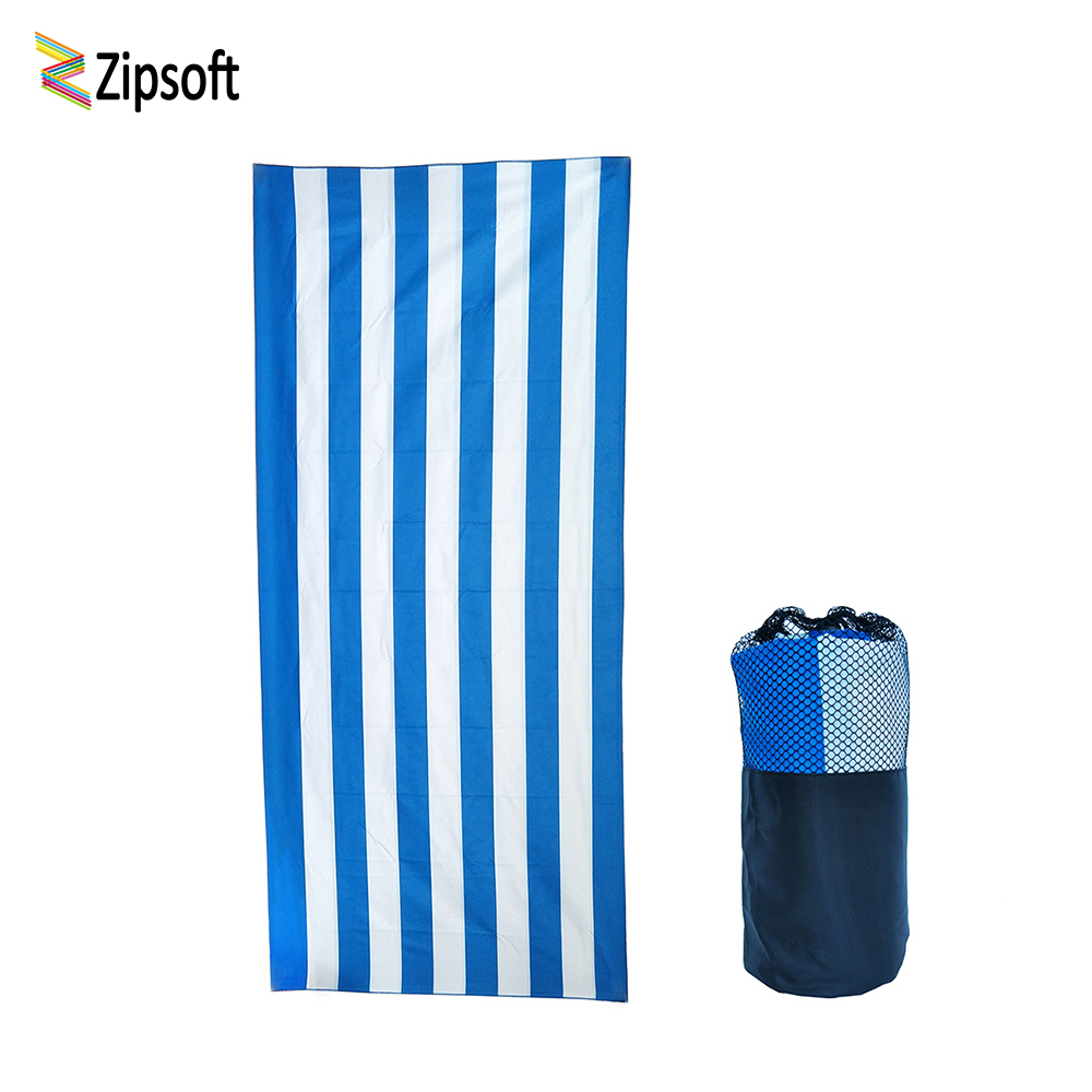 Zipsoft Large Beach towels Man Women 2017 Stripe Flag towel Microfiber 86*200cm Mat Blanket for Gym Pool Travel Camping Fabrics
