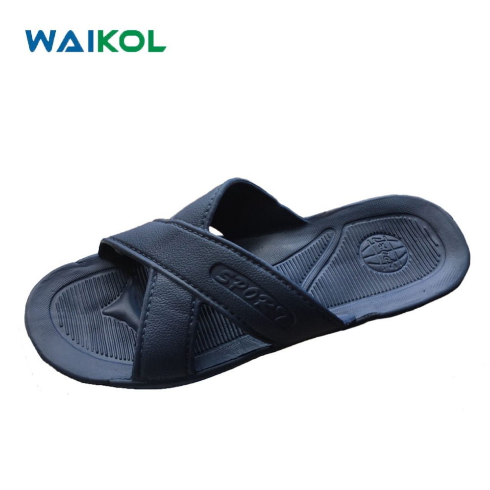 Waikol Men Shoes Household Slippers Slip Bathroom Slippers Male Summer Indoor Bath Slippers Flats Sandals Beach Flip-flops 50%off men shoes summer eva massage foam beach flat sandals non slip bathroom household room indoor home house shoes