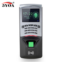 5YOA Fingerprint Password Key Lock Access Control Machine Biometric Electronic Door Lock RFID Reader Scanner System
