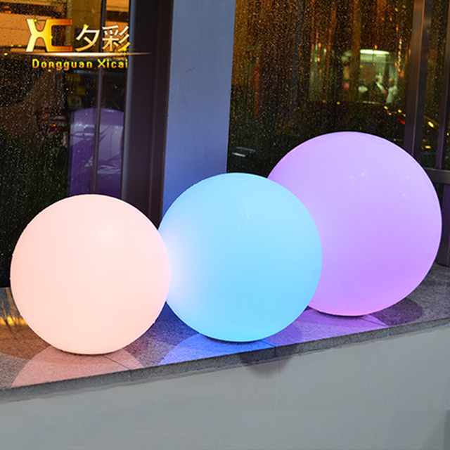 Outdoor Lighted Spheres Chargeable cordless plastic sphere ball for garden decoration remote chargeable cordless plastic sphere ball for garden decoration remote control outdoor lighted ball for garden ornaments workwithnaturefo