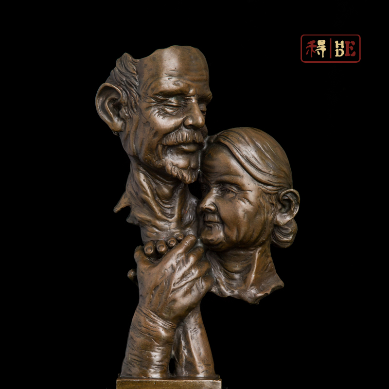 Wo have copper art Home Furnishing office decoration housewarming wedding gift happy ending DS-284