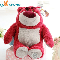 High Quality Original Toy Story Lotso Strawberry Bear Q Cute Kawaii Stuff Plush Toy Girl Baby