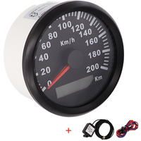 New 85mm GPS Speedometer 200kmh Speed Gauge Odometer ATV UTV Motorcycle Marine Boat Buggy Golf Go Cart 12V/24V
