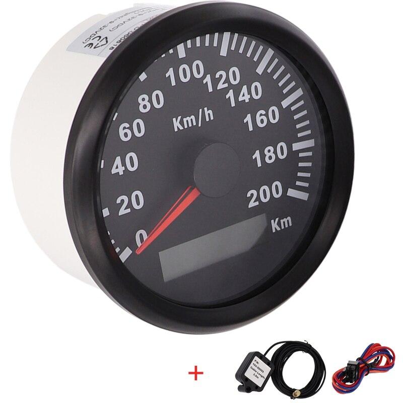 Nouveau 85mm GPS Compteur De Vitesse 200kmh Jauge de Vitesse Odomètre ATV UTV Moto Marine Bateau Buggy De Golf Go-Cart 12 v /24 v