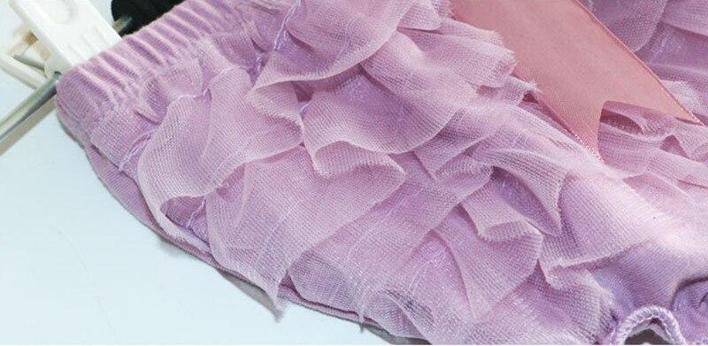 Baby Bloomers Princess Summer Girls pantalones cortos Ruffle Mesh Bow - Ropa de ninos - foto 5