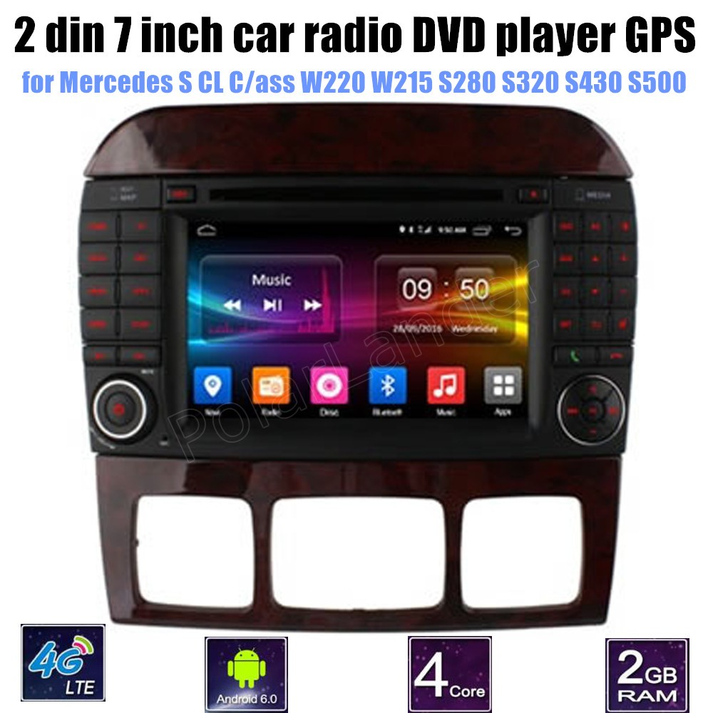 for Me/rcedes B-ENZ S CL C/ass W220 W215 S280 S320 S430 S500 CAR DVD player car audio st ...