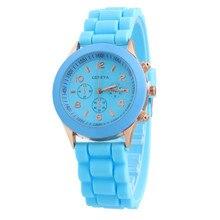 Casual Watch Geneva Unisex Quartz watch 14color men women Analog wristwatches Sports Watches Silicone watches Dropship wk1010-3