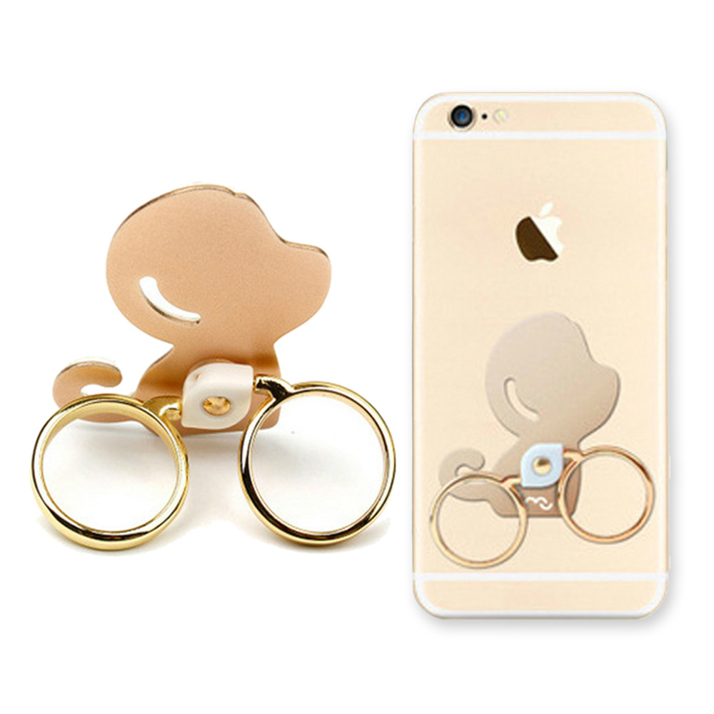 Universal Cute Monkey Double Ring Finger Ring font b Phone b font Holder Stand For iPhone7