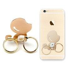 Universal do Macaco Bonito anel de Dedo Duplo Anel Estande Suporte Do Telefone para iPhone7 5 6 Samsung Mobile Phone HTC Tablet Doca acessório