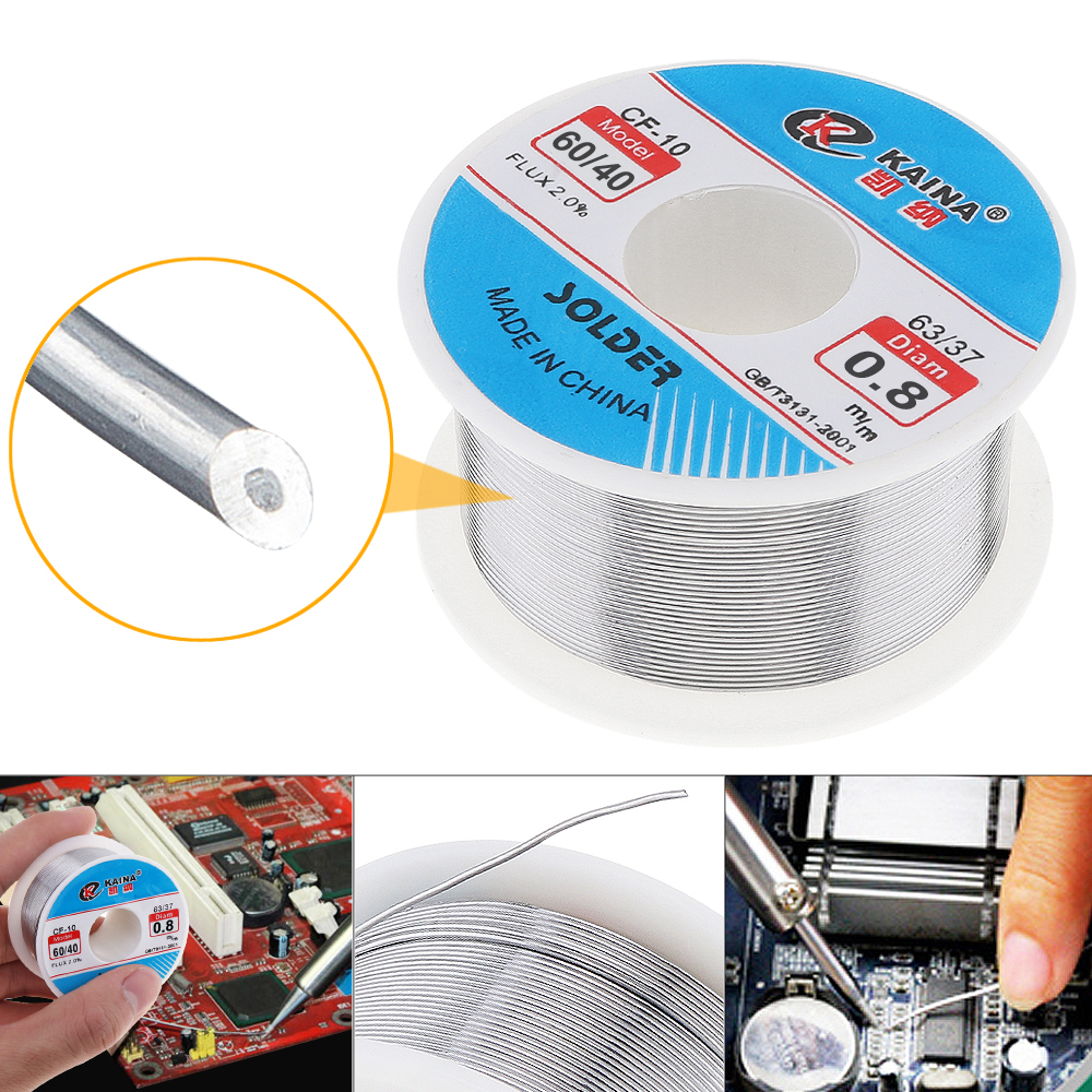 <font><b>60/40</b></font> 100g 0.6/0.8/1.0/1.2/1.5/2.0mm Tin Lead Wire Core 2% Flux Welding <font><b>Solder</b></font> Iron Wire with Rosin and Low Melting Point image