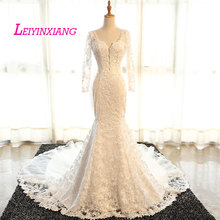 LEIYINXIANG 2019 Wedding Dresses Beading Sexy Mermaid