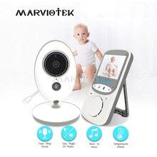 Niania elektroniczna Baby Monitor 2.4 Cal LCD 2 Way Audio wideo niania muzyki domofon bezprzewodowy aparat dla dzieci dla dzieci Walkie Talkie opiekunka do dziecka kamera VB605
