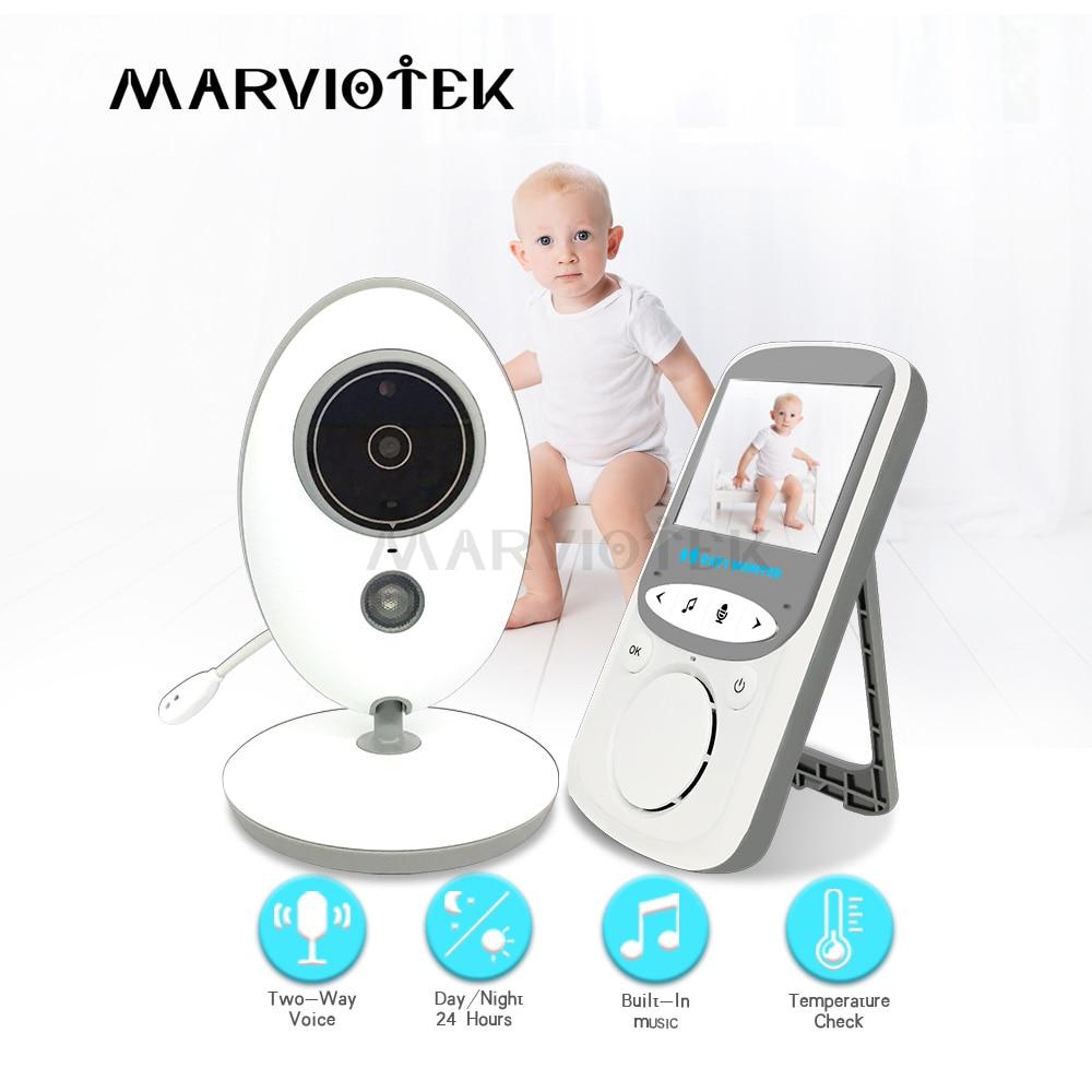 Baby Monitor 2.4 Inch LCD 2 Way Audio Video Nanny Music Intercom Wireless Baby Camera Baby Walkie Talkie Babysitter Camera VB605