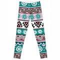Leggings 2016 Nueva Moda Estilo Fresco geometría y flores de Impresión Digital de Pantalones de Las Mujeres Atractivas Funcionan Pantalones Ropa Mujer Plus tamaño