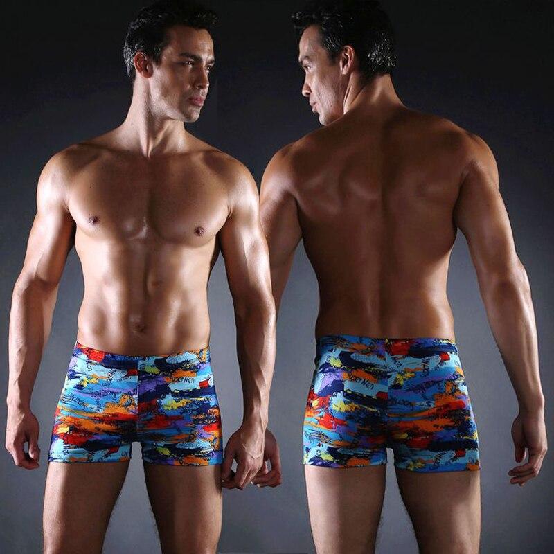 Brand Men's Swim Shorts Racing Swimsuit Man Swimming Trunks Swimming Briefs Breathable Swimwear Men Boxer Board Shorts 3XL