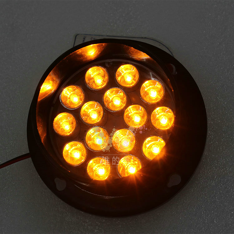 DC12V Customized 80mm LED Pixel Cluster Arrow Board Module With Optical Lens