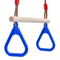 New Wooden Swing with Triangular Plastic Exercise Fitness Gymnastic Ring for Children Adult Exercise Crossfit Pull Ups Muscle