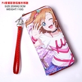 Japan anime LOVE LIVE Honoka Kousaka wallet Cosplay Long Leather PU Zipper Purse